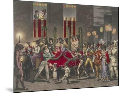 Carnival in Rome, Festival of the Moccoletti (Tapers), Italy, 19th Century--Mounted Giclee Print