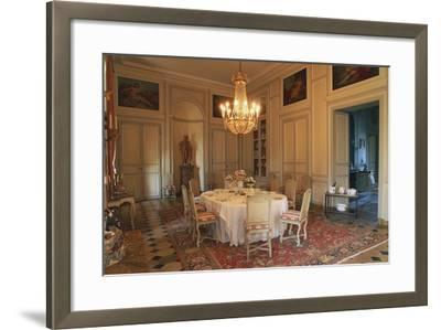 Dining Room in Chateau of La Motte-Tilly, 18th Century, Nogent-Sur-Seine, Champagne-Ardenne, France--Framed Photographic Print