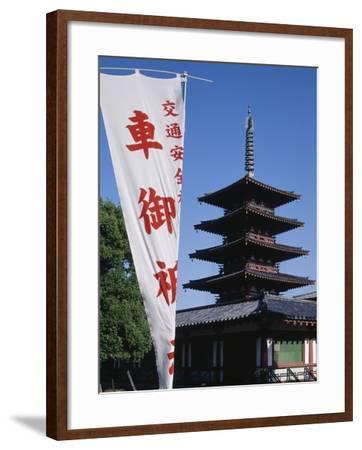 Five-Storey Pagoda of Shitennojiji Temple, Kansai, Osaka, 6th Century, Japan--Framed Giclee Print