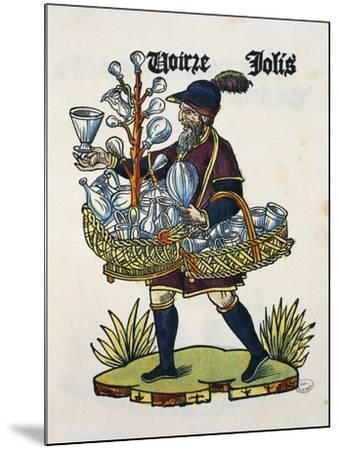 Glasses Vendor, 1515, Colour on Wood, from Les Cris De Paris, France, 16th Century--Mounted Giclee Print