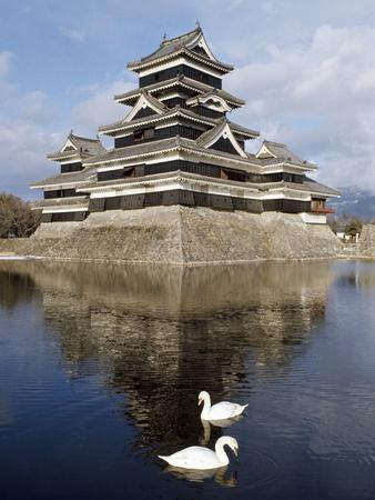 Matsumoto Castle (Crow Castle or Black Castle), Kyoto, Japan, 14th-16th Century--Framed Giclee Print