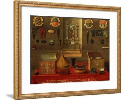 Signboard of Guild of Haberdashery in Venice, 1733, Italy, 18th Century--Framed Giclee Print