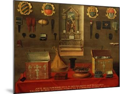 Signboard of Guild of Haberdashery in Venice, 1733, Italy, 18th Century--Mounted Giclee Print