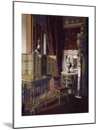 Great Hall, Van Der Bilt Hotel in New York, Bedroom, Ca 1840, Color, 19th Century, Usa--Mounted Giclee Print