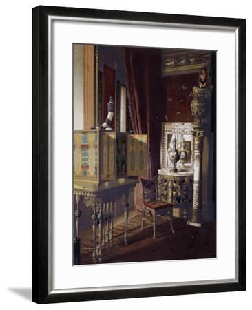 Great Hall, Van Der Bilt Hotel in New York, Bedroom, Ca 1840, Color, 19th Century, Usa--Framed Giclee Print