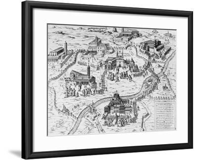 Pilgrims Visiting Seven Churches of Rome During Holy Year of 1575, Italy, 16th Century--Framed Giclee Print