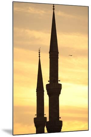 Turkey. Istanbul. Blue Mosque. 17th Century. Classical Ottoman Style. Sunset and Minarets--Mounted Photographic Print