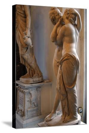 Roman Art. Statue of Cupid and Psyche. Marble. Copy. Capitoline Museums. Rome. Italy--Stretched Canvas Print