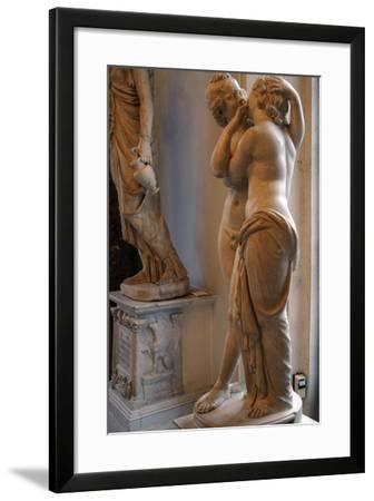 Roman Art. Statue of Cupid and Psyche. Marble. Copy. Capitoline Museums. Rome. Italy--Framed Photographic Print