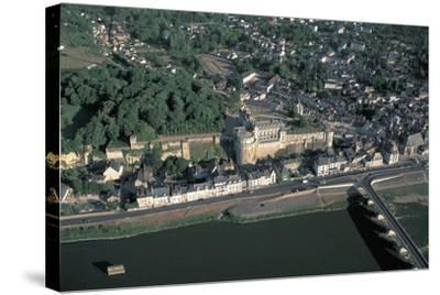 High Angle View of a Castle at the Waterfront, Chateau D'Amboise, Amboise, Centre, France--Stretched Canvas Print