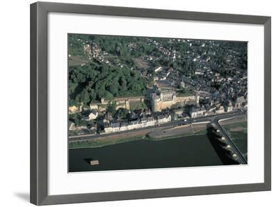 High Angle View of a Castle at the Waterfront, Chateau D'Amboise, Amboise, Centre, France--Framed Photographic Print