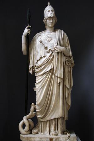 The Athena Giustiniani. Roman Copy of a Greek Statue of Pallas Athena. 2nd Century--Framed Photographic Print
