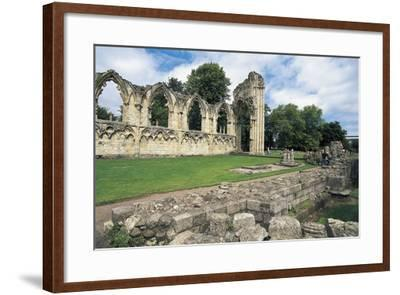 Ruins of Abbey of St Mary, Benedictine Abbey, 13th Century, York, England, United Kingdom--Framed Photographic Print