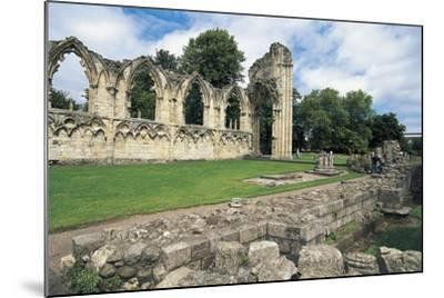 Ruins of Abbey of St Mary, Benedictine Abbey, 13th Century, York, England, United Kingdom--Mounted Photographic Print