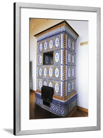 Ceramic Stove Top, 18th Century Inside Chateau of Montbeliard, Franche-Comte, France--Framed Photographic Print