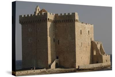 Low Angle View of a Monastery, Lerins, St. Honorat, Provence-Alpes-Cote D'Azur, France--Stretched Canvas Print