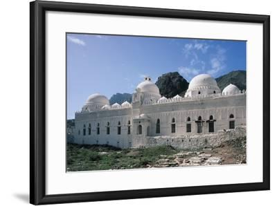 Al Ashrafiyya Mosque with Twin Minarets, 13th Century, Taiz, Taiz Governorate, Yemen--Framed Photographic Print