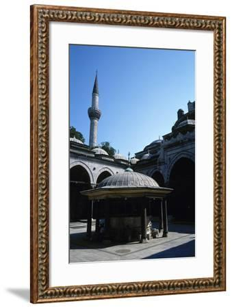 Turkey. Istanbul. Bayezid II Mosque. Ottoman Style. 16th Century. Courtyard and Ablution Fountain--Framed Photographic Print