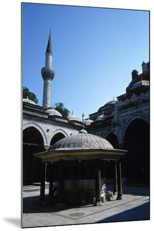 Turkey. Istanbul. Bayezid II Mosque. Ottoman Style. 16th Century. Courtyard and Ablution Fountain--Mounted Photographic Print