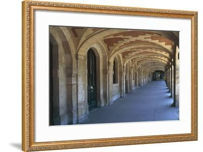The Place Des Vosges Arcades, 1612, in the Marais District, Paris, Ile-De-France, France--Framed Photographic Print
