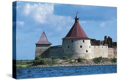 Slisselburg Fortress, also known as Petrokrepost or Oresek Fortress in Lake Ladoga, Russia--Stretched Canvas Print