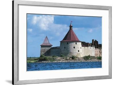 Slisselburg Fortress, also known as Petrokrepost or Oresek Fortress in Lake Ladoga, Russia--Framed Photographic Print