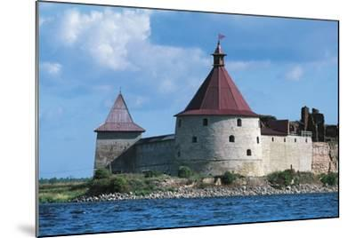Slisselburg Fortress, also known as Petrokrepost or Oresek Fortress in Lake Ladoga, Russia--Mounted Photographic Print