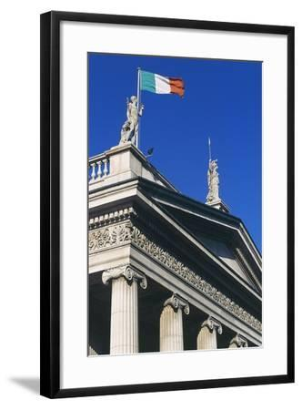 The General Post Office (Gpo) on O'Connell Street, Which Flies Irish Flag, Dublin, Ireland--Framed Photographic Print