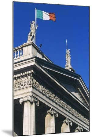The General Post Office (Gpo) on O'Connell Street, Which Flies Irish Flag, Dublin, Ireland--Mounted Photographic Print