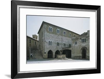 Low Angle View of a Building, Silvestri Square, Bevagna, Perugia Province, Umbria, Italy--Framed Photographic Print
