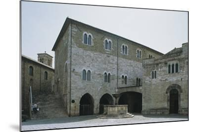 Low Angle View of a Building, Silvestri Square, Bevagna, Perugia Province, Umbria, Italy--Mounted Photographic Print