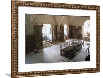 Renaissance Vaulted Library in Pernstejn Castle, 1450-1550, Moravia, Czech Republic--Framed Photographic Print