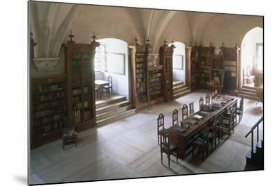 Renaissance Vaulted Library in Pernstejn Castle, 1450-1550, Moravia, Czech Republic--Mounted Photographic Print