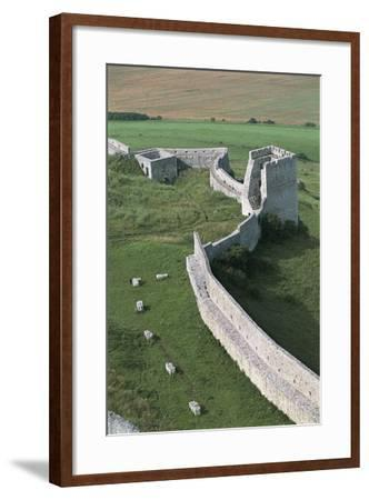 High Angle View of Old Ruins of a Castle, Spis Castle, Spisska Nova Ves, Slovakia--Framed Photographic Print