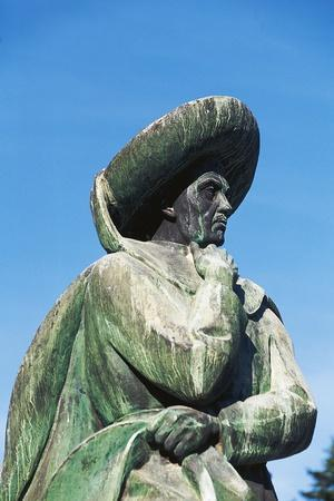 Statue of Prince Henry the Navigator (Porto, 1394-Sagres, 1460), Tomar, Portugal Detail--Framed Photographic Print