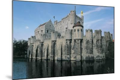 Low Angle View of a Castle, Gravensteen Castle, Ghent, East Flanders, Flanders, Belgium--Mounted Photographic Print
