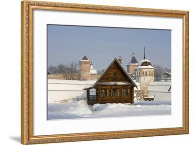 Isba, Traditional Wooden House Near the Convent of the Intercession in Suzdal, Golden Ring, Russia--Framed Photographic Print