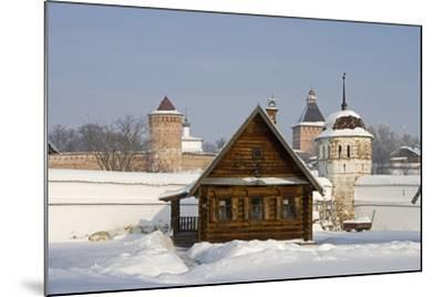 Isba, Traditional Wooden House Near the Convent of the Intercession in Suzdal, Golden Ring, Russia--Mounted Photographic Print