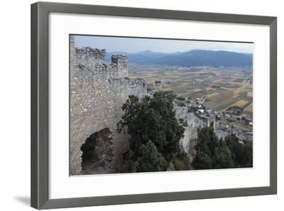 Ruins of San Pio Delle Camere Castle and Walled Village, 12th-16th Century, Abruzzo, Italy--Framed Photographic Print