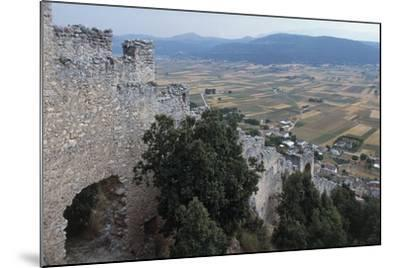 Ruins of San Pio Delle Camere Castle and Walled Village, 12th-16th Century, Abruzzo, Italy--Mounted Photographic Print