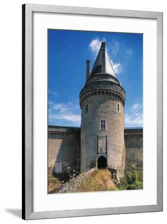 The Tower of the Drawbridge, Chateau of Blain or Groulais, 13th-16th Century, Brittany, France--Framed Photographic Print
