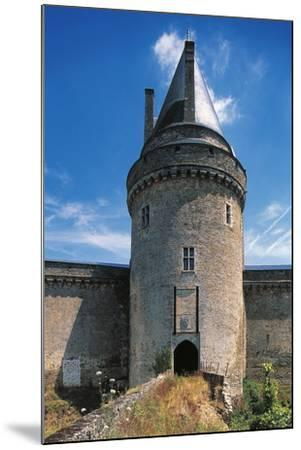The Tower of the Drawbridge, Chateau of Blain or Groulais, 13th-16th Century, Brittany, France--Mounted Photographic Print