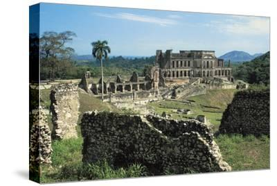 Sans-Souci Palace, 1810-1813, Milot (Unesco World Heritage List, 1982), Nord Department, Haiti--Stretched Canvas Print