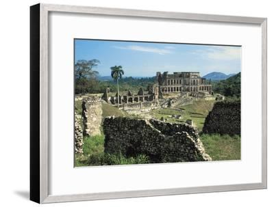 Sans-Souci Palace, 1810-1813, Milot (Unesco World Heritage List, 1982), Nord Department, Haiti--Framed Photographic Print