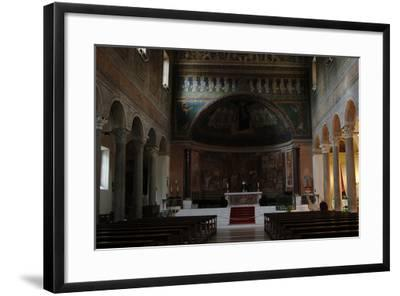 Italy. Rome. Basilica of Santa Maria in Domnica. Interior with the 9th Century Apse Mosaics--Framed Photographic Print
