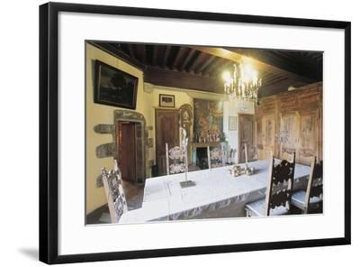 Dining Room, 1659, Chateau of Lespinasse, 12th Century, Auvergne, France--Framed Photographic Print