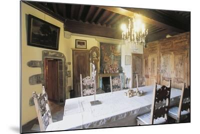 Dining Room, 1659, Chateau of Lespinasse, 12th Century, Auvergne, France--Mounted Photographic Print
