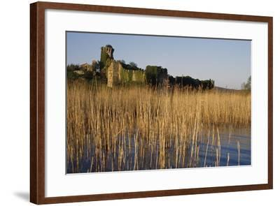 The Ruins of the Medieval Castle on Polvese Island, Lake Trasimeno, Umbria, Italy--Framed Photographic Print