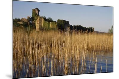 The Ruins of the Medieval Castle on Polvese Island, Lake Trasimeno, Umbria, Italy--Mounted Photographic Print