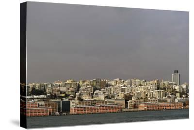 Turkey. Istanbul. Panoramic of District of Beyoglu, on the European Side of City--Stretched Canvas Print